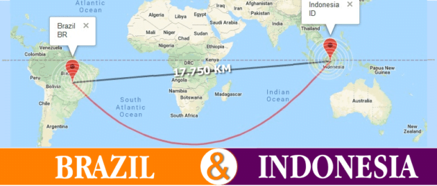√ Jarak Dan Perbedaan Waktu Antara Indonesia Dengan Brasil