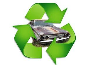 auto recycling junk car