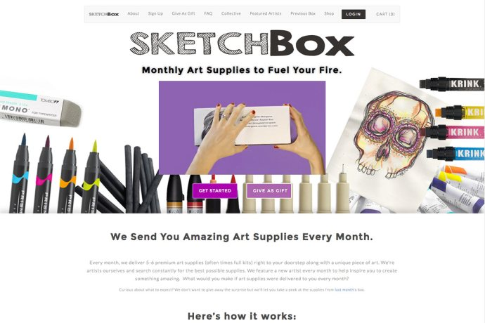 Example Subscription Box & eCommerce Websites
