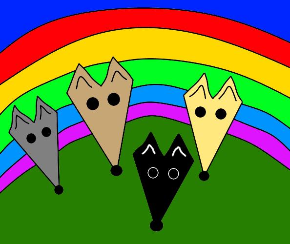 Greyhound rainbow bridge