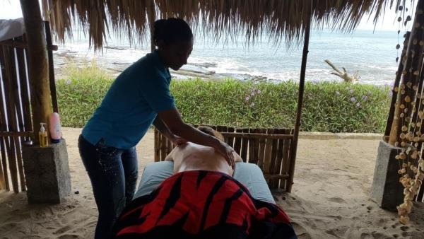 massage by the ocean