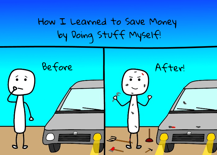 Do stuff yourself. Money saving tips from sellallyourstuff.com