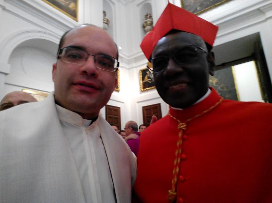 Con el Cardenal Sarah