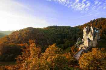 Castle in fall foliage
