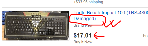eBay damaged item