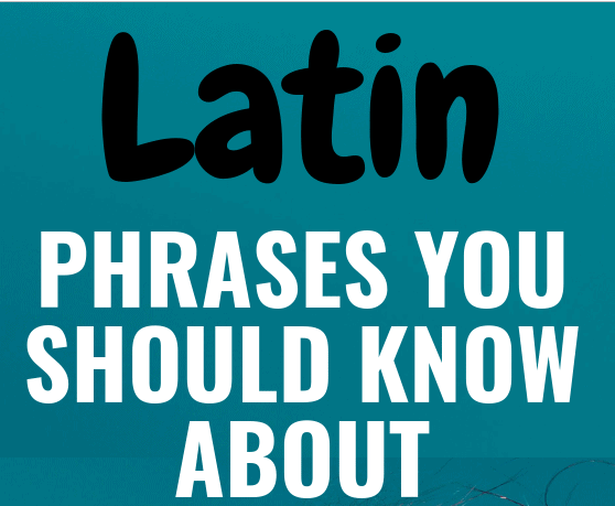 Common Latin Phrases You Should Know About