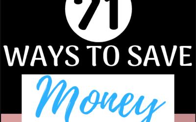 71 Simple Ways to Save Money