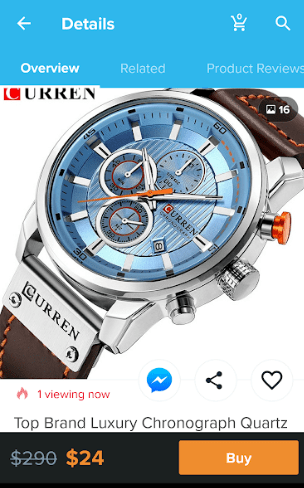 wish app watch