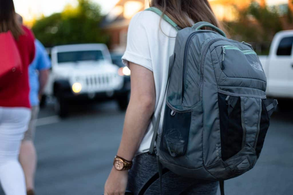 College student with backpack