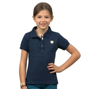 Flags and Cup Polo Enfant Vilca Marine En Cadence