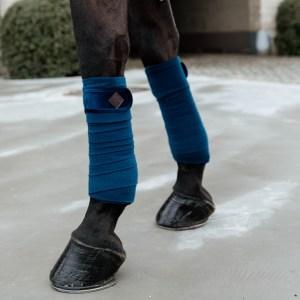 Kentucky Horsewear Bandes Polo Polaire Basic Velvet Navy Bleu Marine En Cadence