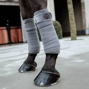 Kentucky Horsewear Bandes Polo Polaire Basic Velvet Gris En Cadence