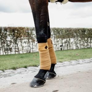 Kentucky Horsewear Bandes Polo Polaire Velvet Moutarde En Cadence