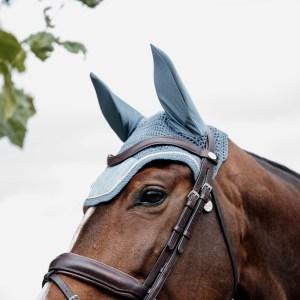 Kentucky Horsewear Bonnet Velvet Bleu Ciel En Cadence