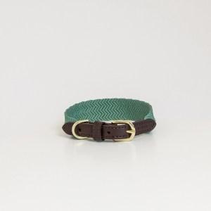Collier Jacquard Vert Olive Kentucky Horsewear Dogwear