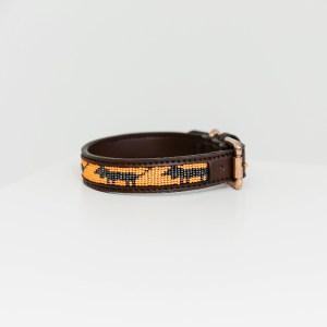 Collier chien Kentucky Dogwear Perles Azteque Orange Noir Horsewear
