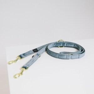 Laisse Chien Velvet 200cm Bleu Ciel Kentucky Dogwear