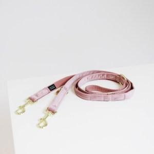 Laisse Chien Velvet 200cm Rose Kentucky Dogwear