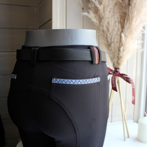 Equial Pantalon Nuance Noir En Cadence