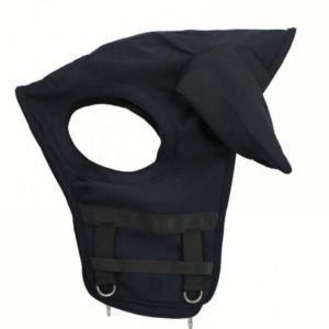 Sellerie En Cadence Montfort l'Amaury Fenwick Masque Cheval Noir Oreilles Titane Liquide