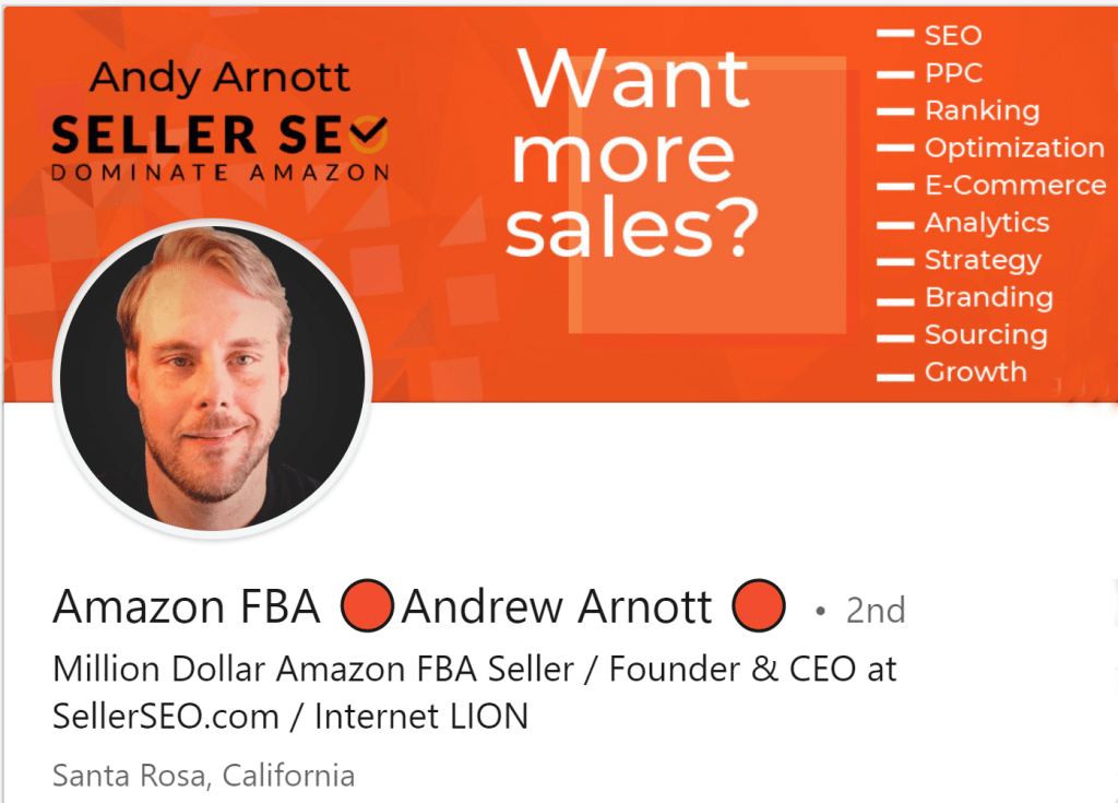 Andy Arnott Amazon FBA Software Developer Entrepreneur