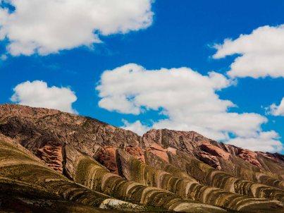 La palette de couleur de la quebrada de Humahuaca