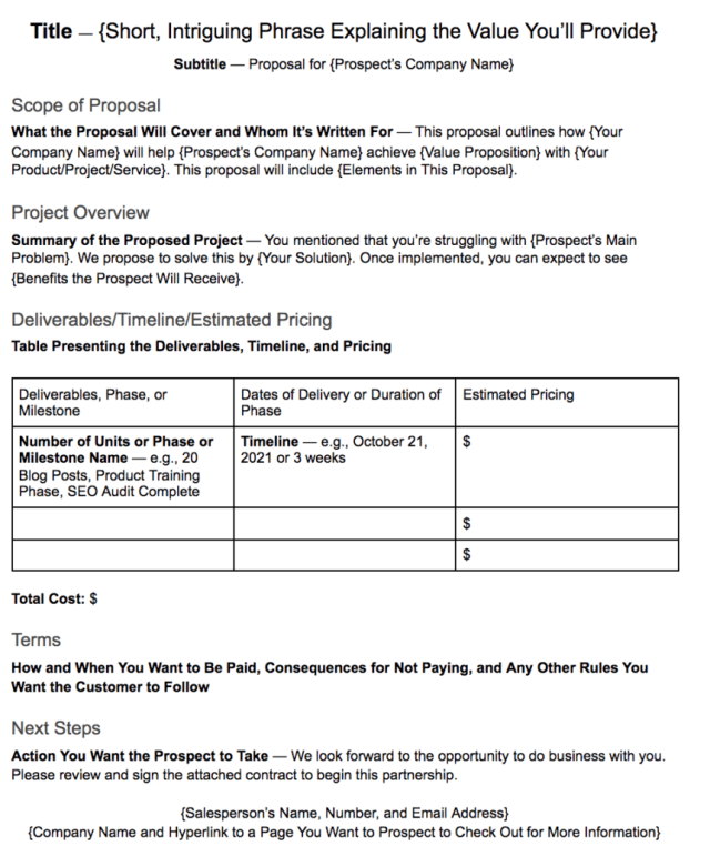 How to Write a One-Page Proposal for Sales + Template
