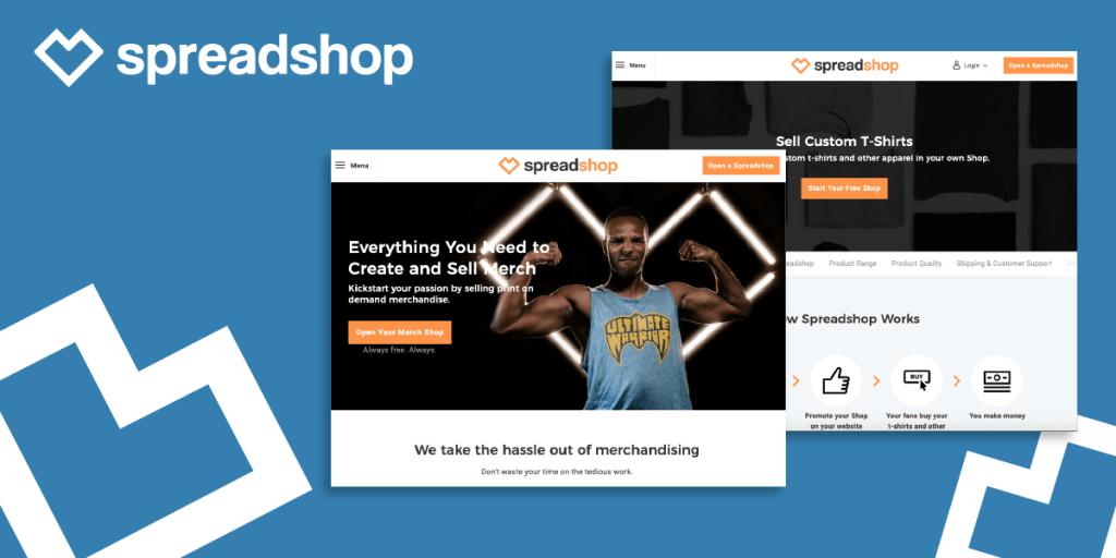 Spreadshop brand identity example