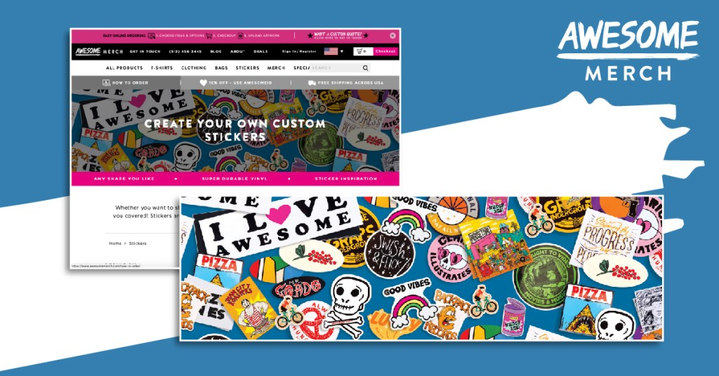 Best Sticker Printing: awesome merch offers great custom sticker options