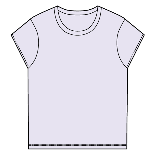 Types of T-shirts - Cap-sleeve T-shirt
