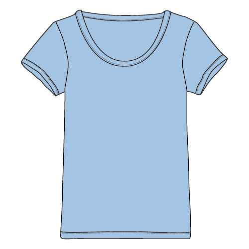 Types of T-shirts - Scoop neck