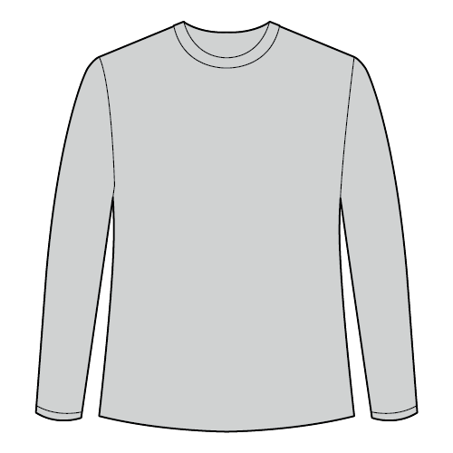 Types of t-shirts - Long sleeve crew neck t-shirt