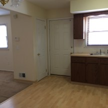 Entrance into kitchen and living room