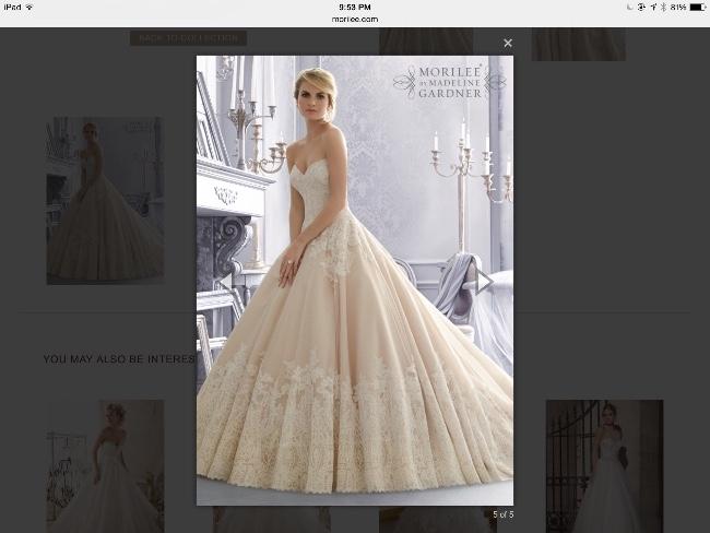 California : Mori Lee Bridal Gown : Sizes 10