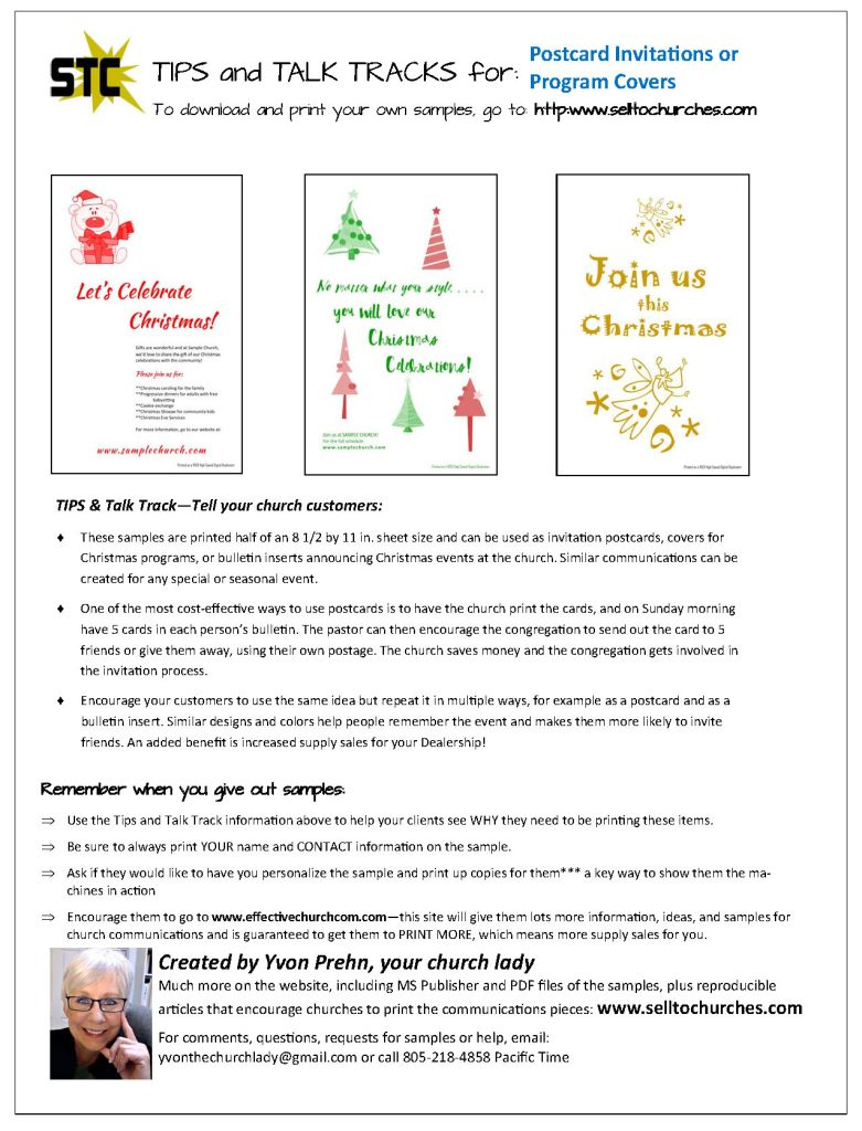 Christmas Covers and Postcards Talk Track