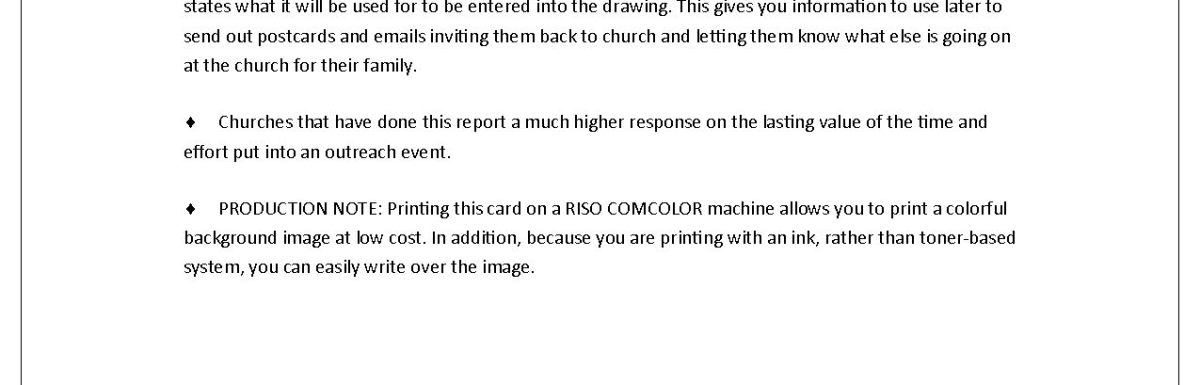 SAMPLE: Come back to church after Mother's Day card