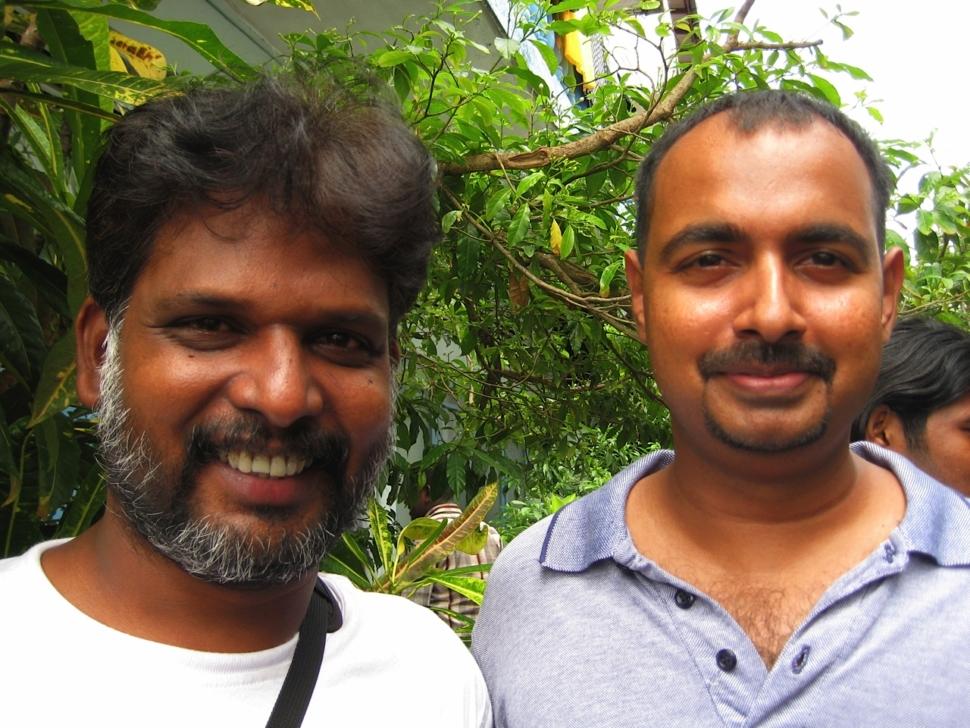 Foto van Srilankaanse filmpartners.