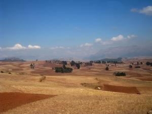 Foto van de vallei van Cuzco.