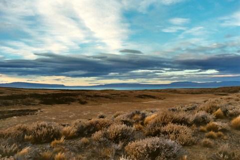 Patagonische steppe.
