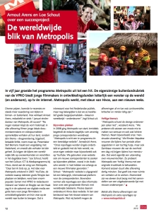 Foto van het artikel 'De wereldwijde blik van Metropolis' in Hivos magazine.