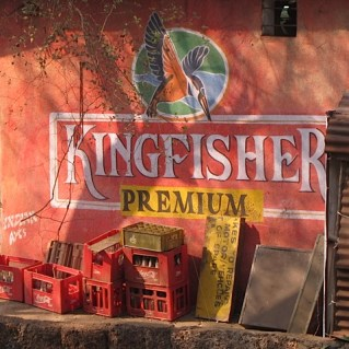 Foto van Kingfisher-reclame.