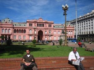 Foto van Casa Rosada in de Argentijnse hoofdstad Buenos Aires.