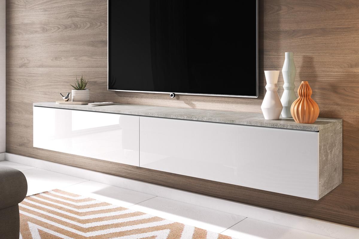 140 cm blanc mat blanc brillant sans