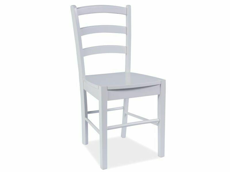 malvik chaise en bois blanche selsey