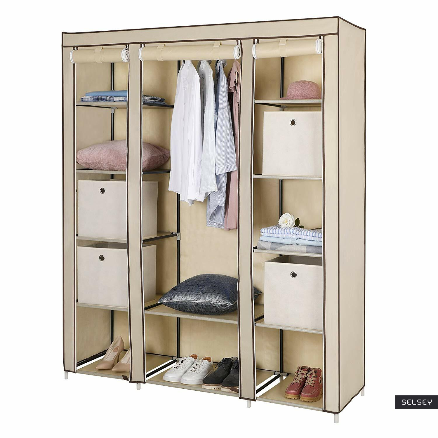 baratins armoire penderie mobile creme