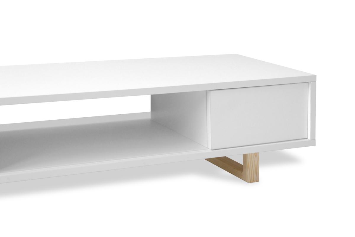 scandinavia meuble tv 125 cm pied en