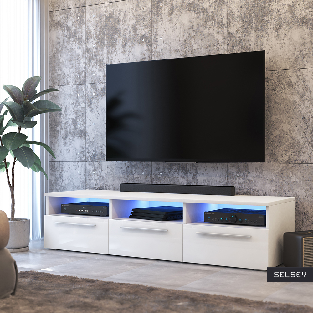 lavello modern tv stand with led