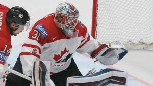 Pickard with Team Canada in the 2017 World Championships
