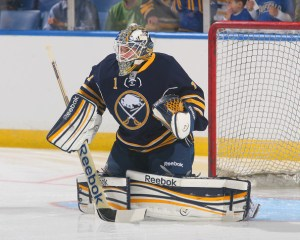 Jhonas Enroth, 5-foot-10, with the Buffalo Sabres