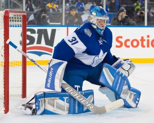 Frederik Andersen in game for Toronto Maple Leafs